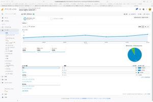 Google Analyticsでホームページのアクセス数を見る